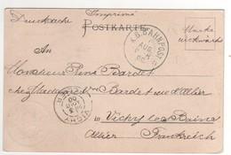 """Beau Cachet """" K.B.BAHNPOST """" Sur CP , Carte , Postcard Du 01/08/1900 De Königsee Pour La France - Lettres & Documents"""