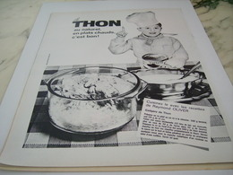 ANCIENNE PUBLICITE LE THON NATUREL 1964 - Affiches