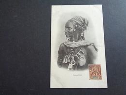 Afrique ( 62 )  Africa  Afrika  :   Sénégal    Femme Peulh -  Femme Aux Seins Nus  Nu - Sénégal