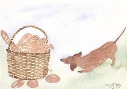 Dackel Teckel Dachshund Chien By Thea Dieperink  Old Dog Postcard - Dogs