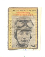 Etiquette ( Façade ) De Boîte D'allumettes - LAC LOPPEM Internationnale MOTO-CROSS - H. Scaillet (rmt) - Luciferdozen - Etiketten