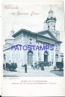 118264 ARGENTINA BUENOS AIRES CHURCH IGLESIA DE LA CONCEPCION CALLE INDEPENDENCIA Y TACUARI DAMAGED POSTAL POSTCARD - Argentina
