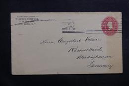 ETATS UNIS - Entier Postal De New York Pour L 'Allemagne En 1899 - L 40035 - Entiers Postaux
