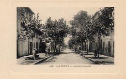 83 LA SEYNE SUR MER AVENUE GAMBETTA ANIMEE CARTE GAUFREE - La Seyne-sur-Mer