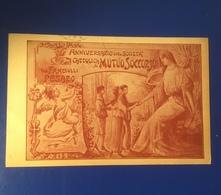 Pesaro Anniversario Società Mutuo Soccorso Tra Fanciulli Viaggiata 1917 - Pesaro