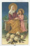 Sainte Anne Enseigne à Sainte Marie. Roses Blanches. - Saints