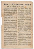 AAN 'T VLAAMSCHE VOLK ! WAT WIJ KUNNEN, ALS WIJ WILLEN AMNESTIE-OPMARSCH NAAR BRUSSEL YZERGALM - VLAANDEREN - Documents Historiques