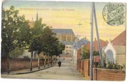 CPA..      MONDORF LES BAINS..CHEMIN DE L'EGLISE..  TBE ..SCAN - Bad Mondorf