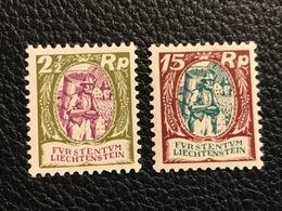 FL 1924/28 Zumstein-Nr. 64 Und 68 ** Postfrisch - Liechtenstein
