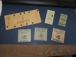 2 Tickets De METRO-RATP,et 4 Autres Divers Un Peu Sale,vendue Telle-quelle (( Lot 306 )) - Subway