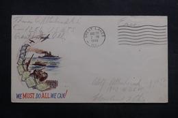ETATS UNIS - Enveloppe De Soldat En Franchise Postal En 1943 , à Voir - L 40044 - Marcophilie