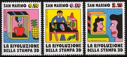 San Marino MiNr. 2624/26 ** Revolution Des 3D-Druckens - San Marino