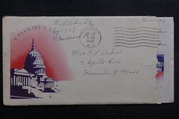 ETATS UNIS - Enveloppe De Soldat En Franchise En 1943 , à Voir - L 40049 - Marcophilie