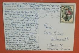 ITALIEN 1207 FM Blumen -- Torino 30.05.1966 AK: Courgne - Piazza - Postcard Brief Cover (2 Foto)(60844) - 6. 1946-.. Repubblica