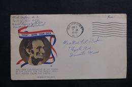 ETATS UNIS - Enveloppe De Soldat En Franchise En 1943 , à Voir - L 40051 - Marcophilie