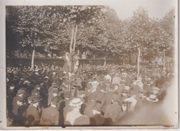 LE BOULEVARD ARAGO PENDANT L'EXÉCUTION DE LIABEUF Naît à Saint-Étienne J 18*13CM Maurice-Louis BRANGER PARÍS (1874-1950) - Lieux