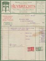 Bruxelles, Facture Huybrechts, 1937. - Autres