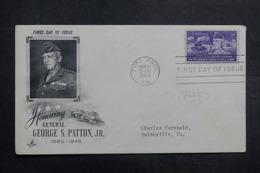 ETATS UNIS - Enveloppe FDC En 1953 - Patton - L 40057 - Premiers Jours (FDC)