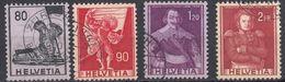 HELVETIA - SUISSE - SVIZZERA - 1958/1959 - Serie Completa Usata Composta Da 4 Valori: Yvert 612/615. - Svizzera