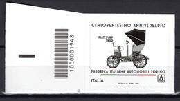 2019 - ITALIA - FIAT - COD  -  Mint - MNH - Codici A Barre