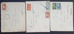 BL - Lebanon 1931-1937 3 Diff Tripoli Covers W/ Diff Cacellations Types, Including Rare Broken Tripoli (Syrie Removed) - Lebanon