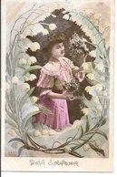 L60A195 - Portrait De Jeune Femme, Bouquet De Muguet - ELD N°4352 Série 4343 - Mujeres