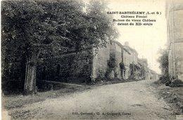47 SAINT BARTHELEMY  CHATEAU FEODAL  RUINE DU VIEUX CHATEAU DATANT DU XII° SIECLE - France