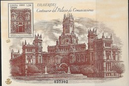 SPAIN, 2019, MNH,  ARCHITECTURE, COMMUNICATIONS PALACE, S/SHEET - Architecture