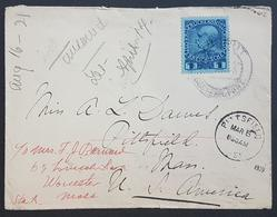 SC - Lebanon Philatelic History: 1909 Austria Levant Offices Cover Sent From BEIROUT To PITTSFIELD USA. Franked 1 Piastr - Lebanon