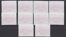 Belgie 1988 Frama / Europhila '88 1w (10x) ** Mnh (44304) - Europese Gedachte