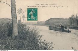 95) AUVERS-SUR-OISE : Valhermeil - Une Péniche En Déchargement (1910) - Auvers Sur Oise