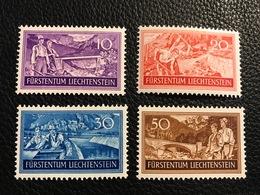 FL 1937 Zumstein-Nr. 122 - 125 * Ungebraucht Mit Falz - Unused Stamps