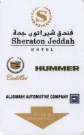 ARABIA SAUDITA  KEY HOTEL   Sheraton Jeddah Hotel - Cadillac / Hummer - Hotelkarten