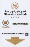 ARABIA SAUDITA  KEY HOTEL   Sheraton Jeddah Hotel - Cadillac / Hummer - Cartes D'hotel