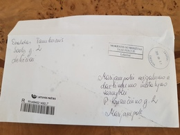Lithuania Litauen Cover Sent From Lekėčiai  To Marijampolė 2019 TAXE PERCUE - Lituania