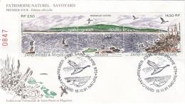 FDC PREMIER JOUR  Saint-Pierre Et Miquelon 1991 549A Patrimoine Naturel - FDC