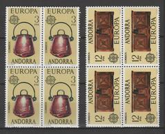 ANDORRA CORREO ESPAÑOL ESTOS SELLOS EN BLOQUE DE 4 O SIMILARES SIN CHARNELA (L.B.4.1) - Andorra Española