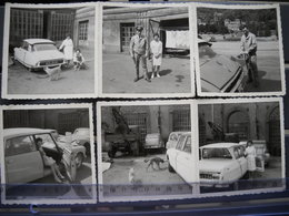 6 Photos D' Un Garage, Pompe A Essence à Localiser Dans Le 54 . Voitures  DS Citroen , Accadiane, Dedeuche  6 Scans - Cars