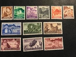 FL 1937/38 Zumstein-Nr. 126 - 137 * Ungebraucht Mit Falz - Unused Stamps