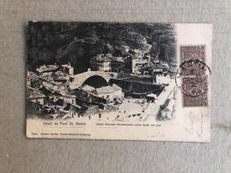 SALUTI DA PONT ST. MARTIN (VALLE D'AOSTA) BIFORCAMENTO PELLA VALLE DEL LYS  1903 - Altre Città