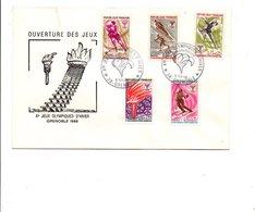 FDC 1968 OUVERTURE DES JEUX OLYMPIQUES GRENOBLE - Winter 1968: Grenoble