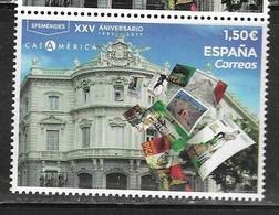 SPAIN, 2019, MNH,ARCHITECTURE, CASA DE AMERICA, STAMPS ON STAMPS, CULTURE, 1v - Architecture