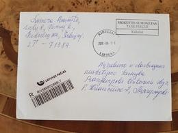 Lithuania Litauen Cover Sent From Kiduliai To Marijampolė 2019 TAXE PERCUE - Lituania