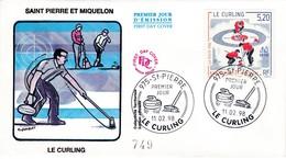 FDC PREMIER JOUR  Saint-Pierre Et Miquelon 1998 670 Jeux Olympiques Nagano Curling - FDC