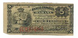 Cuba , Bco. Espanol De La Habana, 1883. RARE. VF+. - Cuba