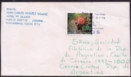 Costa Rica - 1994 - Lettre - Acanthaster Planci - étoile De Mer - Mundo Aquatico