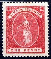 ILES VIERGES - (Colonie Britannique) - 1888-89 - N° 16 - 1 P. Rouge - (Sainte Ursule) - British Virgin Islands