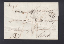 Lettre 1843 Berganton Pessac Pour Le Duc De Lorge Beaugeney Loiret - Poststempel (Briefe)