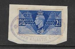 TRISTAN DA CUNHA SOUTH ATLANTIC OCEAN, 2 FE 48 Cachet On GB 2 1/2d On Fragment - Tristan Da Cunha