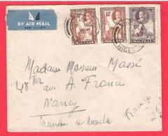 NIGERIA To FRANCE Enveloppe Affranchie KGV 6d+2x 1.5d Par Avion Lagos 7 Mar 1938 - Nigeria (...-1960)
